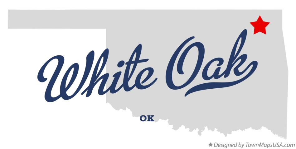 Map of White Oak Oklahoma OK