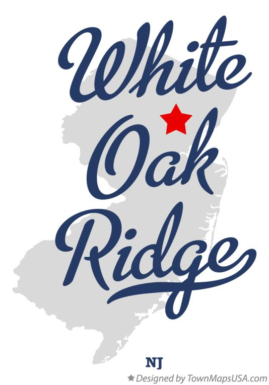 Map of White Oak Ridge New Jersey NJ