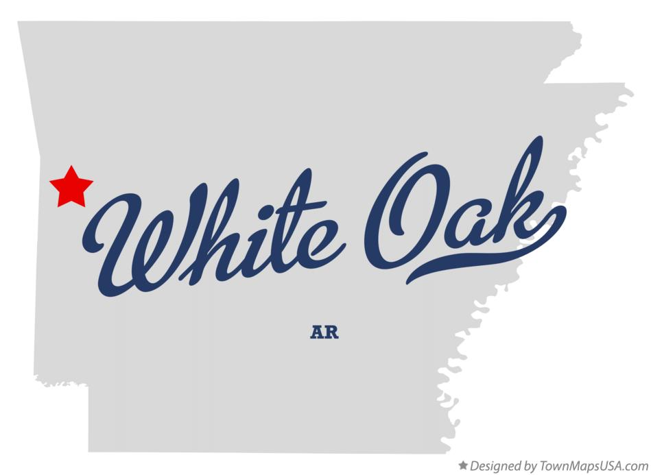 Map of White Oak Arkansas AR