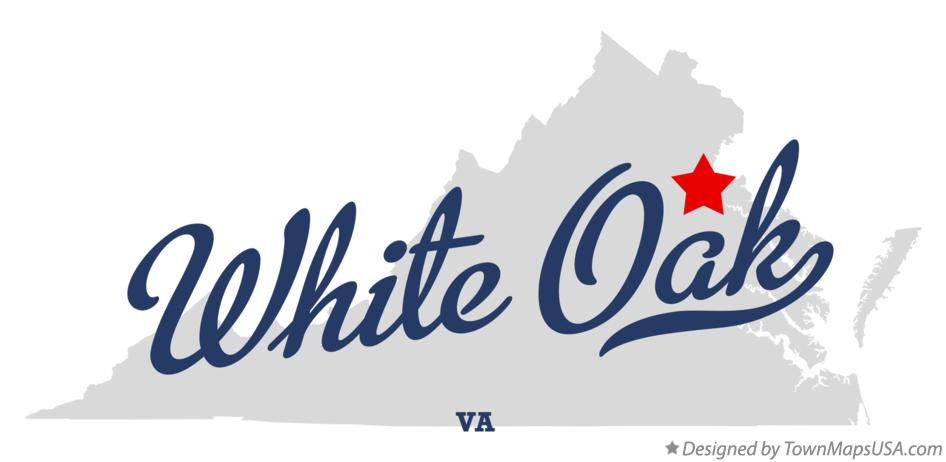 Map of White Oak Virginia VA