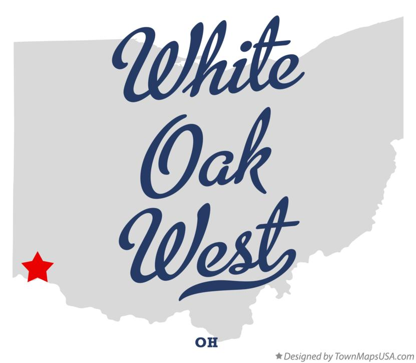 Map of White Oak West Ohio OH