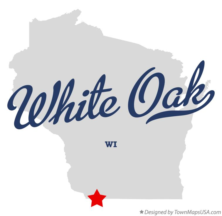 Map of White Oak Wisconsin WI