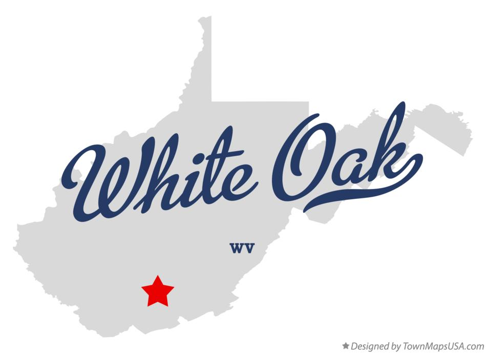 Map of White Oak West Virginia WV