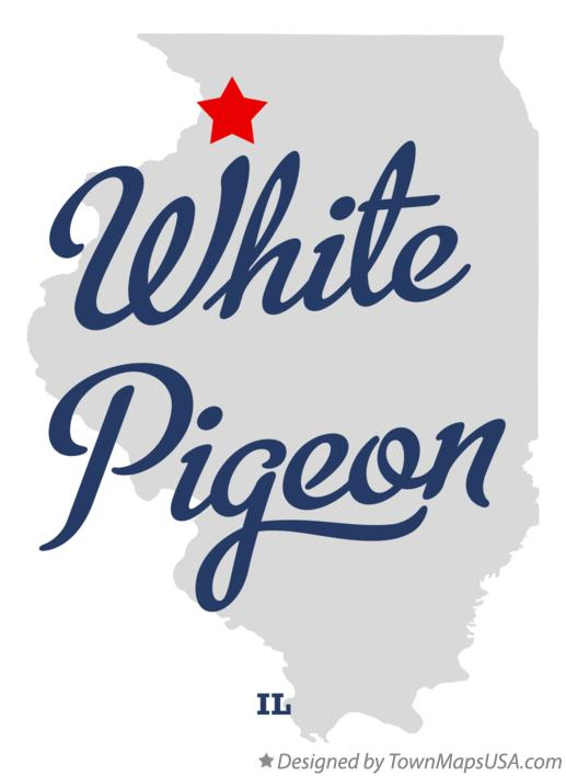 Map of White Pigeon Illinois IL