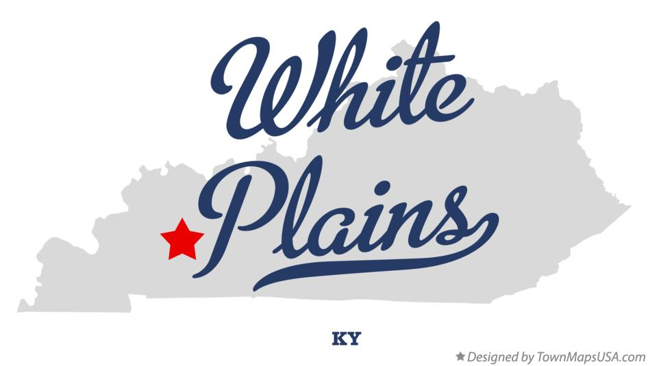 Map of White Plains Kentucky KY