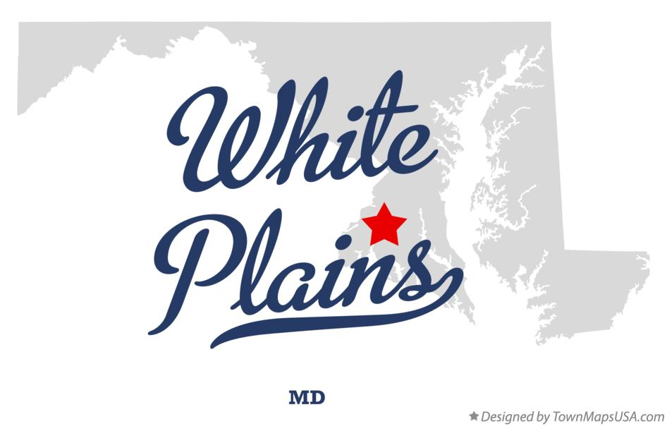 Map of White Plains Maryland MD