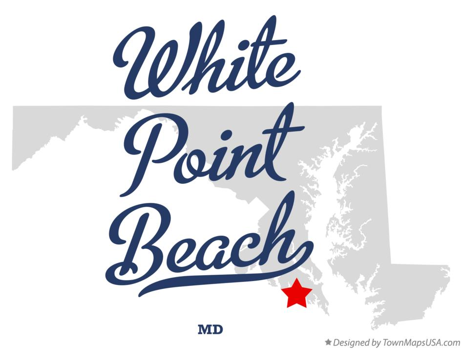 Map of White Point Beach Maryland MD