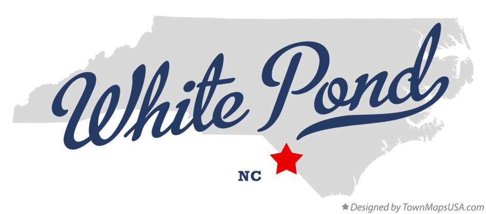 Map of White Pond North Carolina NC