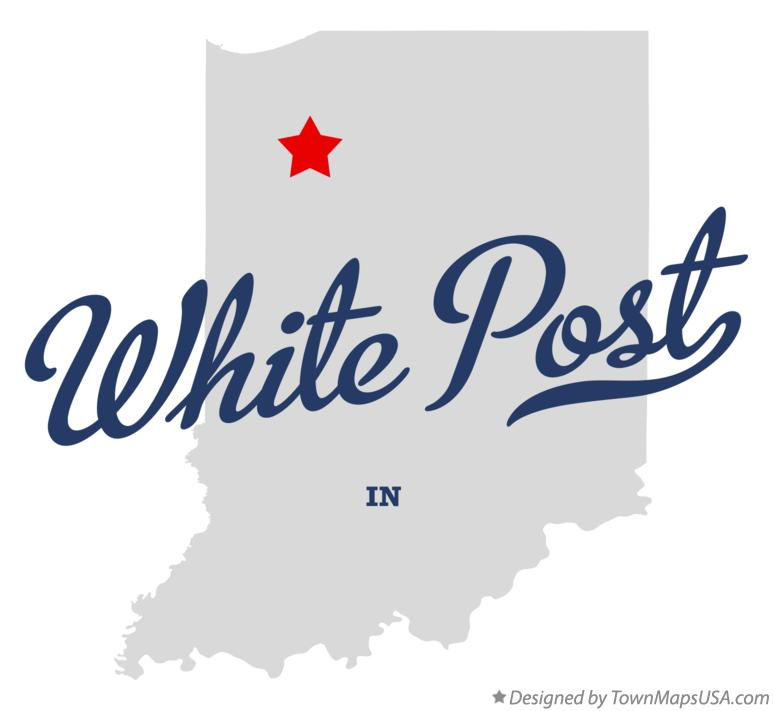Map of White Post Indiana IN
