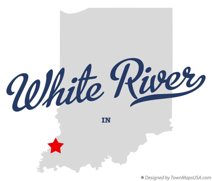 Map of White River Indiana IN