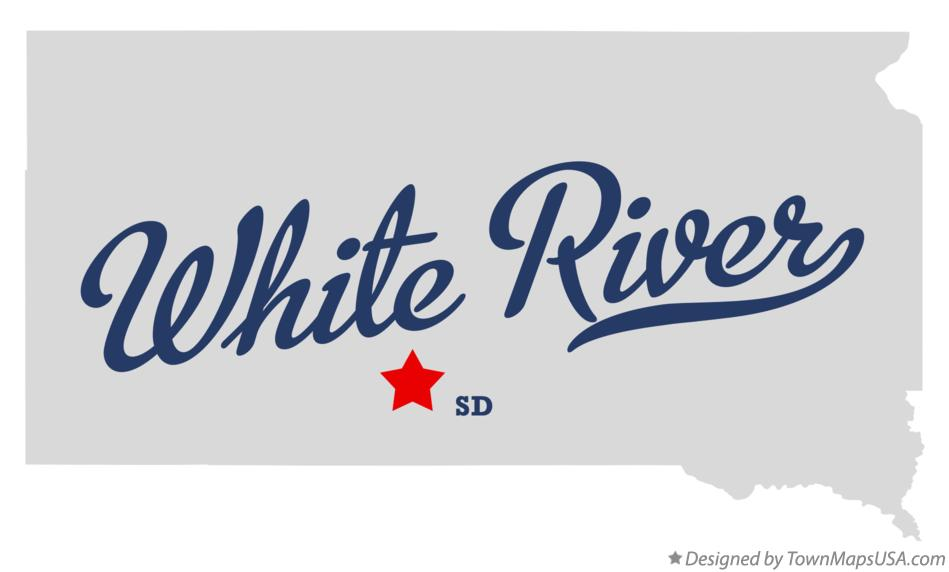 Map of White River South Dakota SD