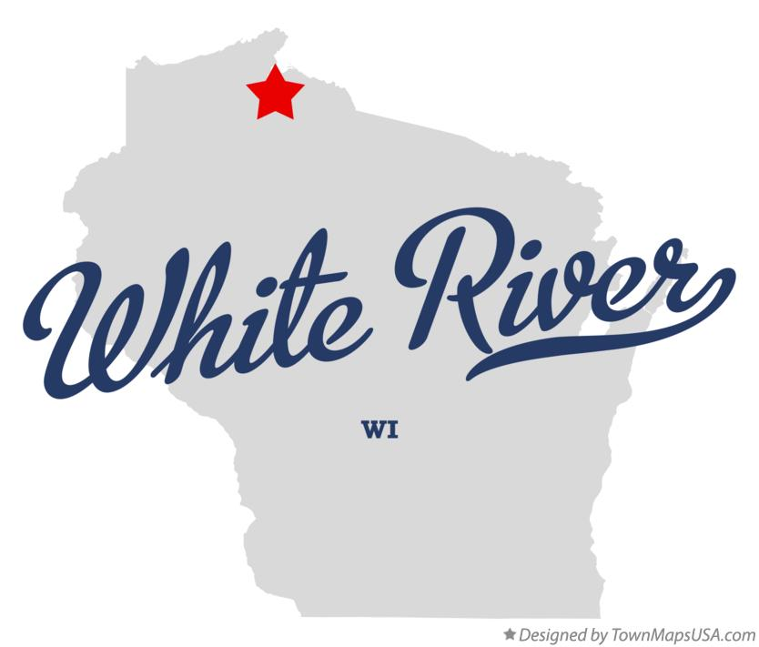 Map of White River Wisconsin WI