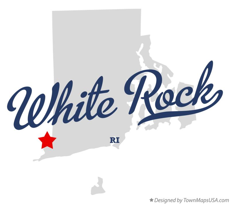 Map of White Rock Rhode Island RI