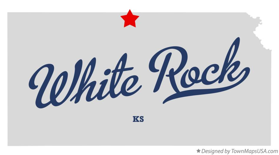 Map of White Rock Kansas KS