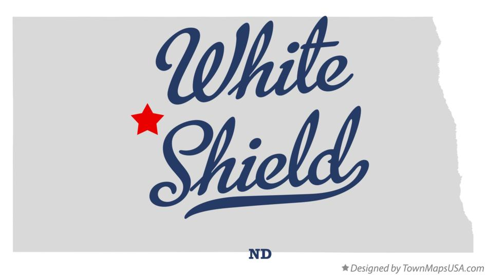 Map of White Shield North Dakota ND