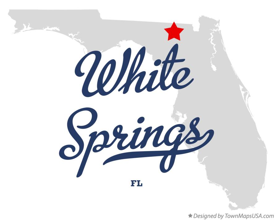 Map of White Springs Florida FL
