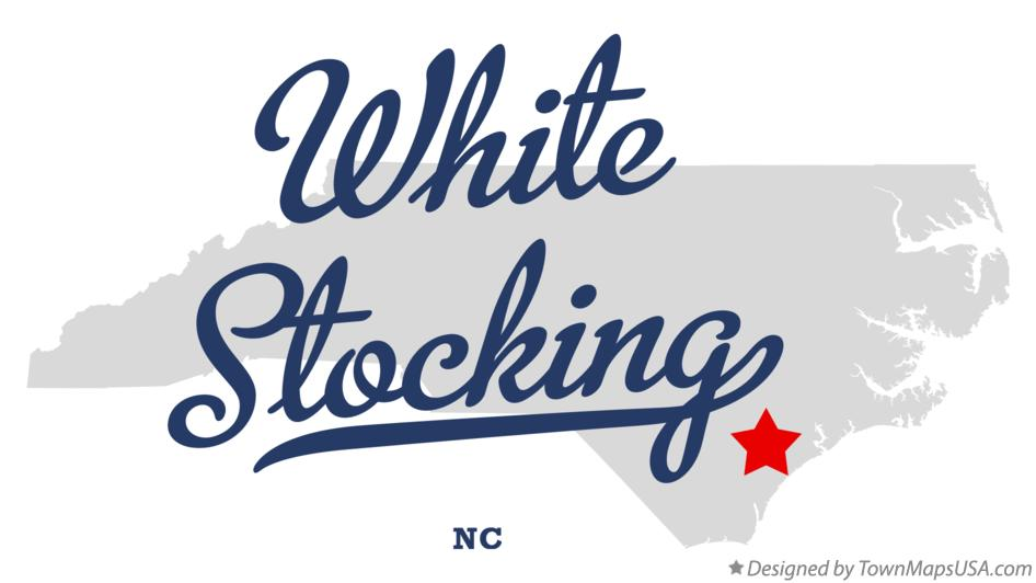 Map of White Stocking North Carolina NC