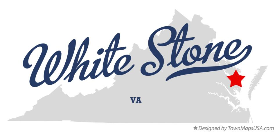 Map of White Stone Virginia VA