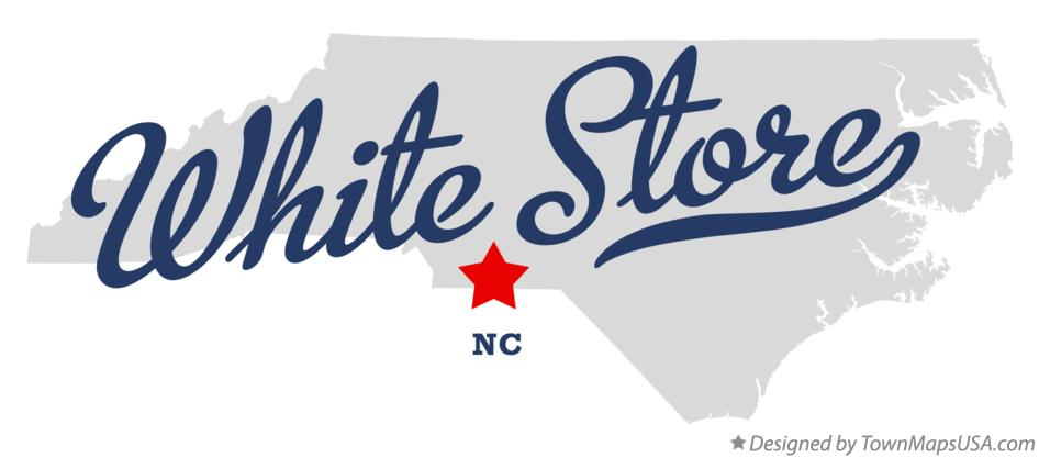 Map of White Store North Carolina NC