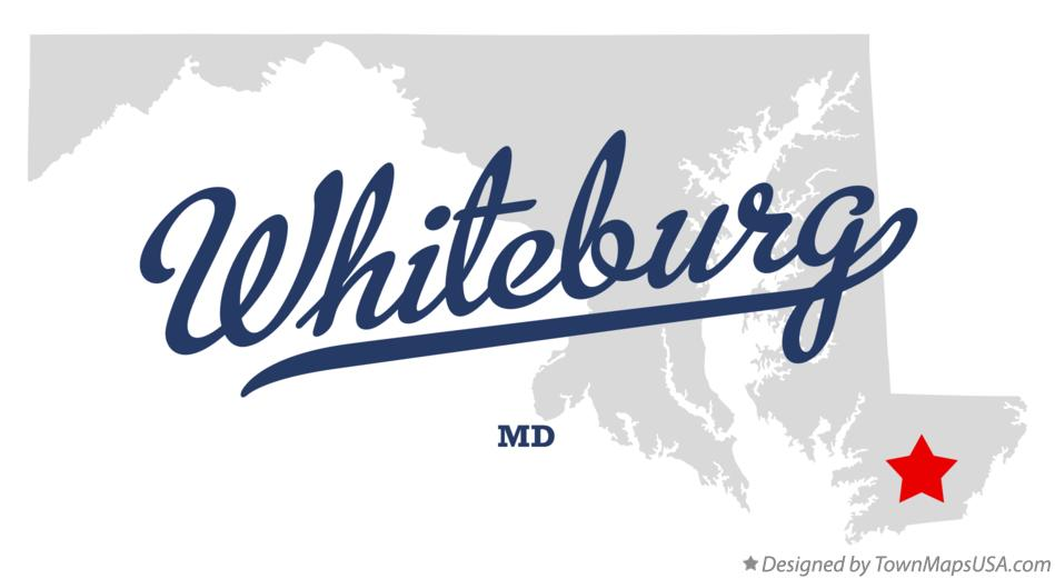 Map of Whiteburg Maryland MD