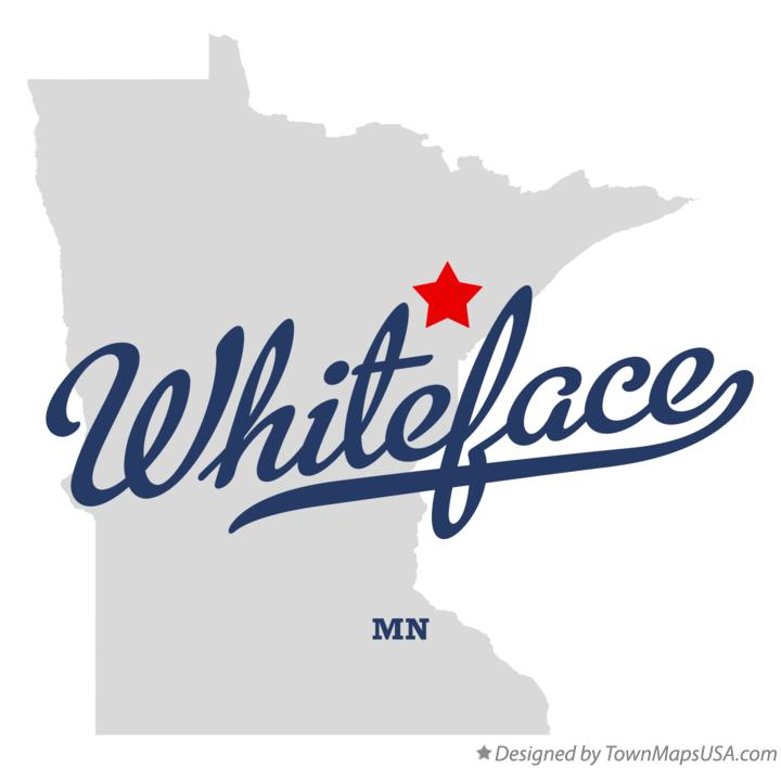 Map of Whiteface Minnesota MN