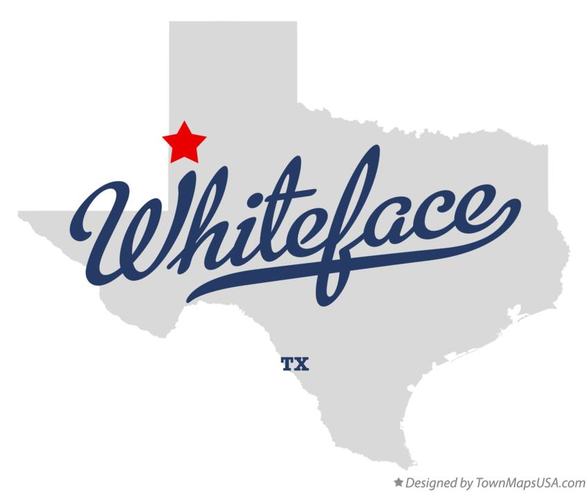 Map of Whiteface Texas TX
