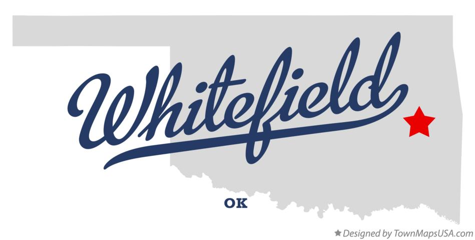 Map of Whitefield Oklahoma OK