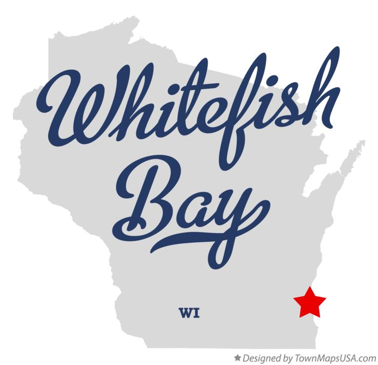 Map of Whitefish Bay Wisconsin WI