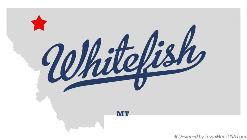 Map of Whitefish Montana MT