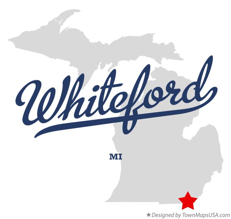 Map of Whiteford Michigan MI
