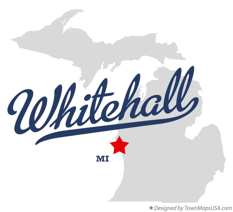 Map of Whitehall Michigan MI