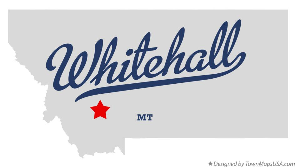 Map of Whitehall Montana MT