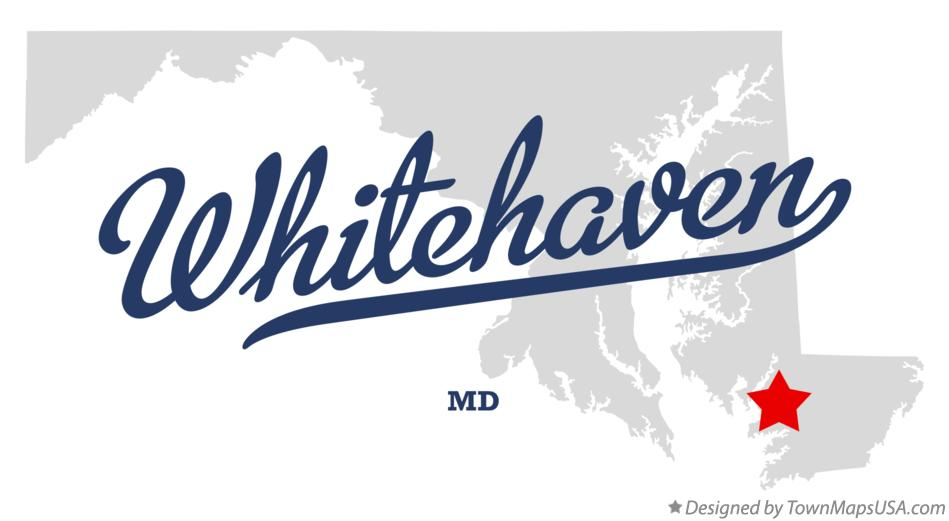 Map of Whitehaven Maryland MD
