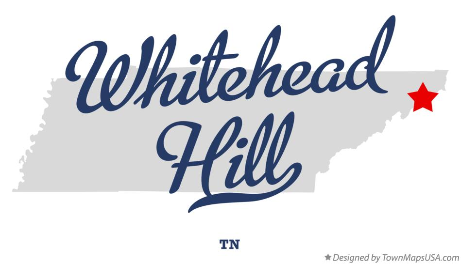 Map of Whitehead Hill Tennessee TN