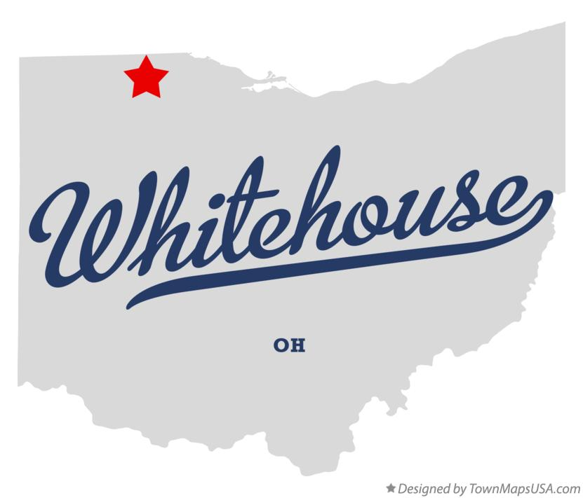 Map of Whitehouse Ohio OH