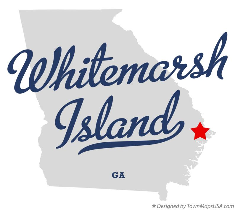 Map of Whitemarsh Island Georgia GA