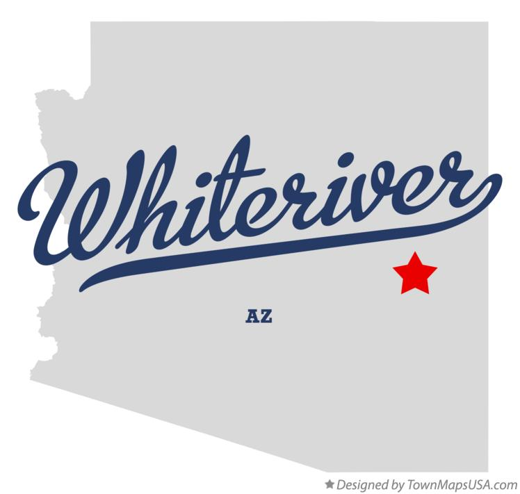 Map of Whiteriver Arizona AZ