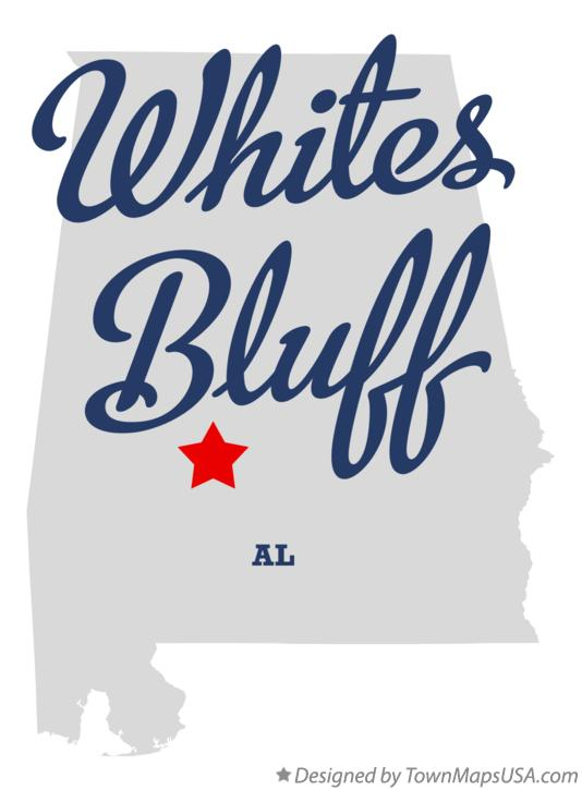Map of Whites Bluff Alabama AL