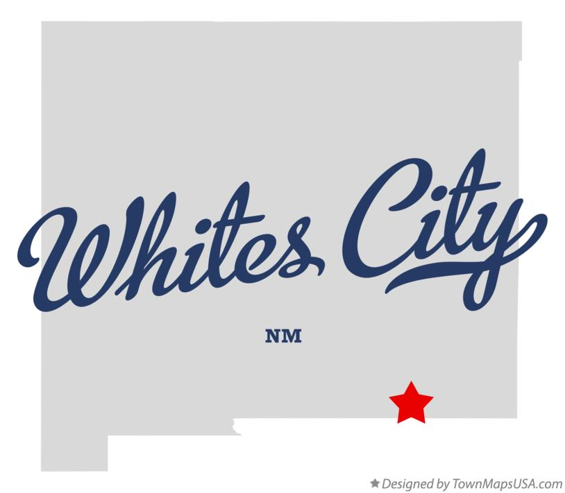 Map of Whites City New Mexico NM
