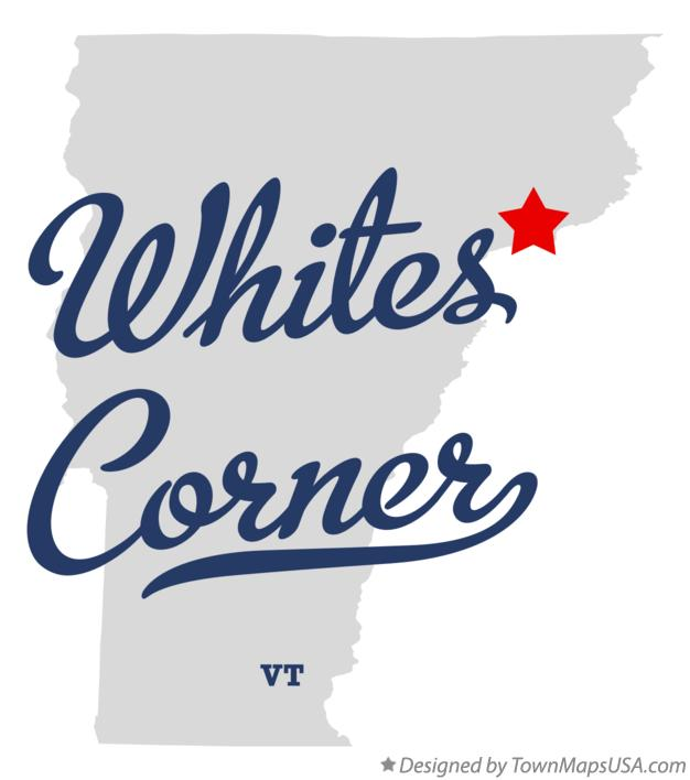 Map of Whites Corner Vermont VT