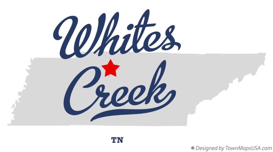 Map of Whites Creek Tennessee TN