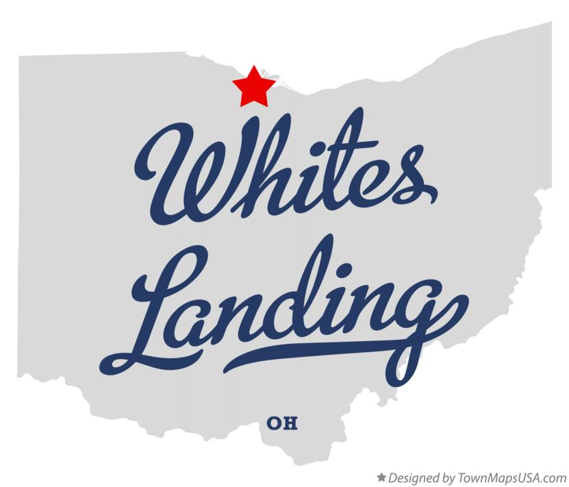 Map of Whites Landing Ohio OH