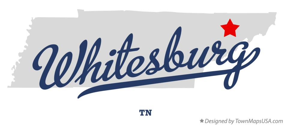 Map of Whitesburg Tennessee TN