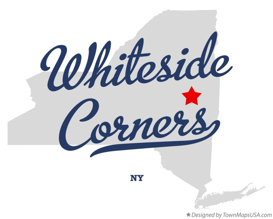 Map of Whiteside Corners New York NY