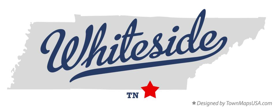 Map of Whiteside Tennessee TN