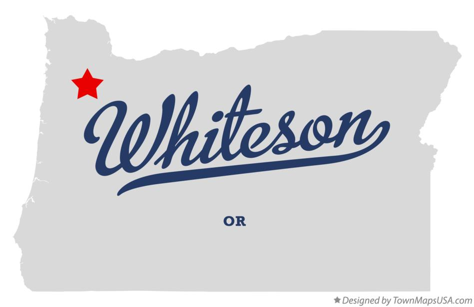 Map of Whiteson Oregon OR