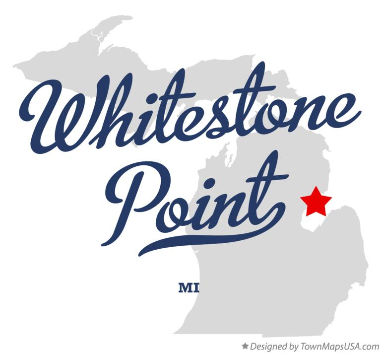 Map of Whitestone Point Michigan MI