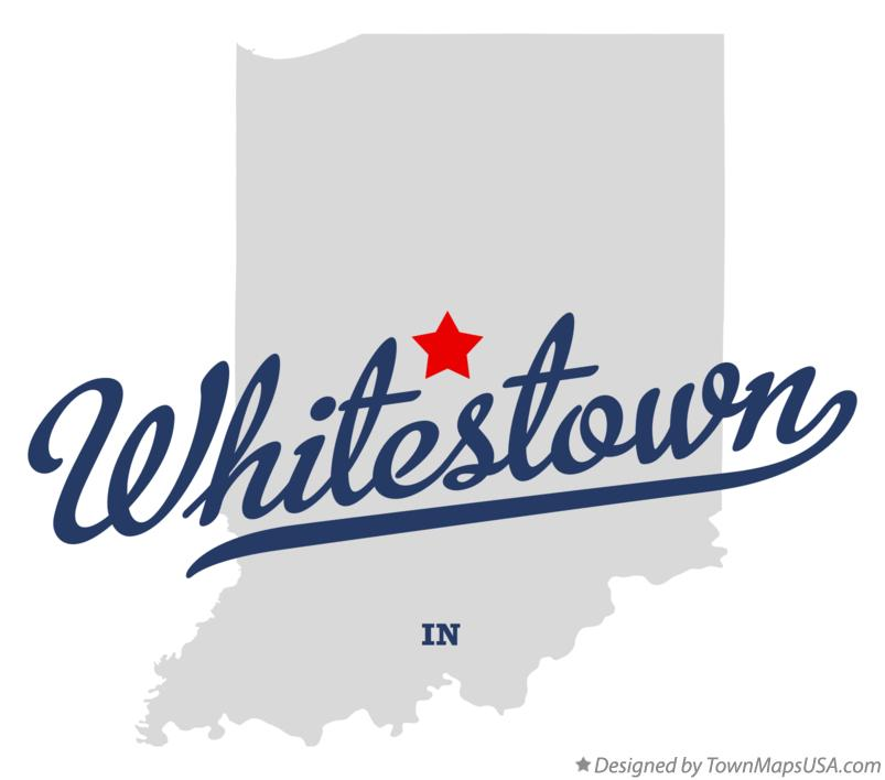 Map of Whitestown Indiana IN