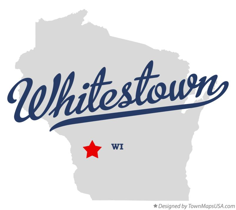 Map of Whitestown Wisconsin WI