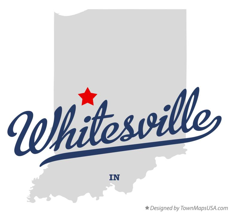 Map of Whitesville Indiana IN
